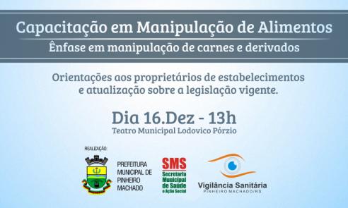 Vigilância Sanitária promove Capacitação em Manipulação de Alimentos