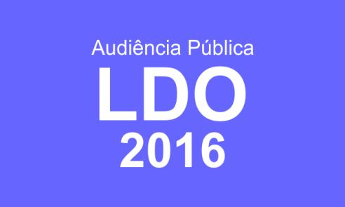 Audiência Pública tratará sobre a LDO 2016